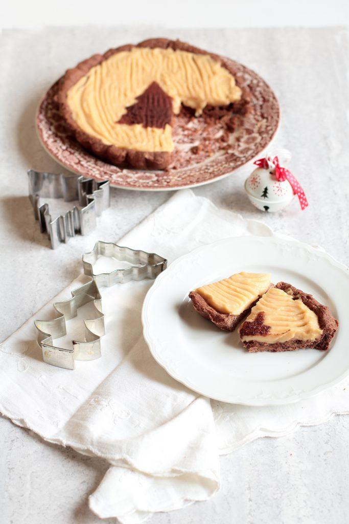 Crostata al cioccolato e composta alle pere