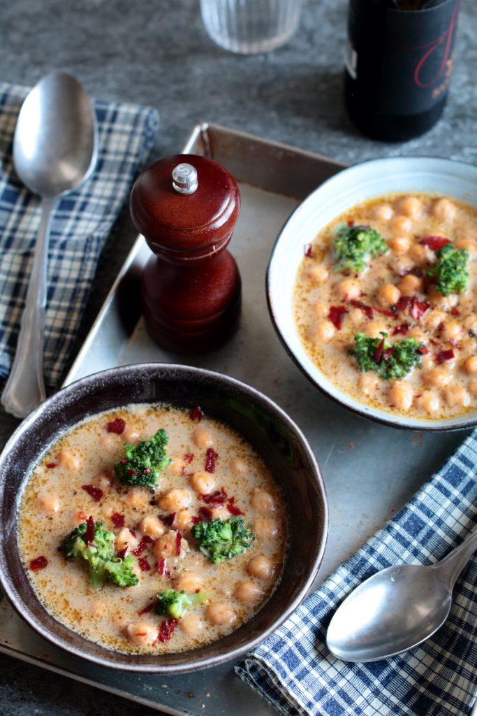 zuppa di ceci al cocco