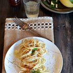 Linguine al limone menta e peperoncino